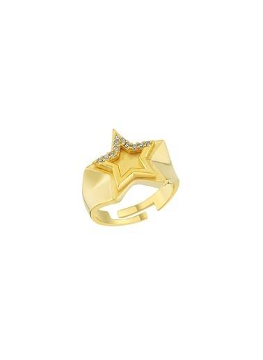 Bendis Design Taşlı Yıldız Yüzük Altın